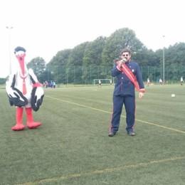 Grußwort von Storch Heinar beim Storch Heinar Cup in Schwerin