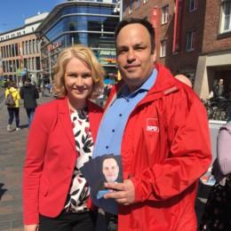 Wahlkampfaktion auf dem Marienplatz mit Manuela Schwesig