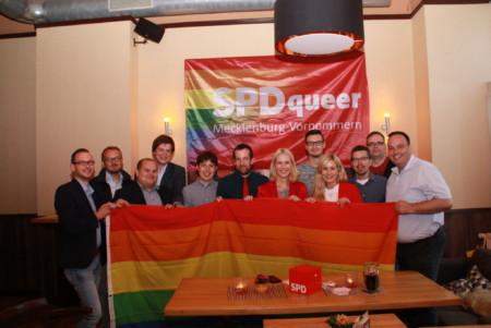 Versammlung SPDqueer in Schwerin