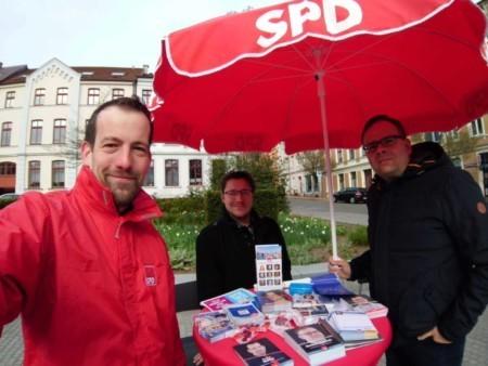 Infostand im Kommunalwahlkampf