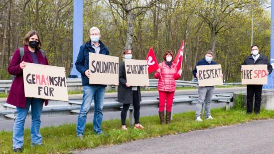 Gemeinsam für Solidarität Zukunft Respekt