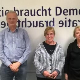 Der Vorstand: Christoph Haring, Annegret Bemmann, Sabine Fisch (v.l.n.r.)