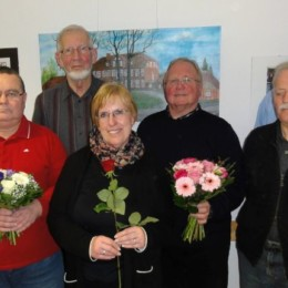 Der Vorstand: Frank Preuß, Olaf Karger, Horst Schwarz-Linek, Annegret Bemmann, Rolf Bemmann, Hans-Jürgen Naumann, Daniel Alff (v.l.n.r.)