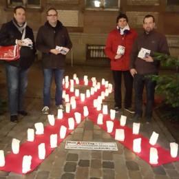 Verteilaktion zum Welt-AIDS-Tag